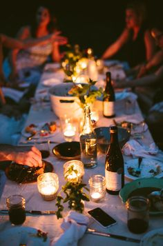 outdoor entertaining | summer dinner party | hygge