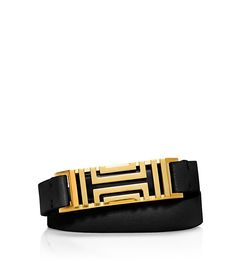 TORY BURCH FOR FITBIT FRET DOUBLE-WRAP BRACELET - fit bit bracelet accessory - love black and gold, or white and rose gold