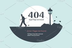 Page Error 404 by Leonid Arestov on @creativemarket