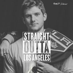 Jonathan Quick - Straight Outta La! #GKG #isitoctoberyet Hockey Baby, Hockey Girls, Hockey Teams, Hockey Players, Hockey Stuff, King Baby, My King, Jonathan Quick, La Kings Hockey