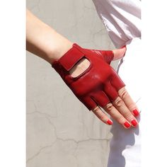 Real Leather Fingerless Gloves