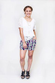 Honey and Lace : Bolsa Chica Harem Short Honey Lace, Harem Shorts, Cute Wedges, Lace Tunic, Lace Tops, Sequin Skirt, Ivory, My Style, Stylish