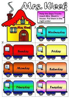 días de la semana en inglés para niños