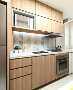 49 Get The Scoop On Compact Kitchen Layout Tiny Homes Before You're Too Late 23 One Wall Kitchen, Kitchen Room Design, New Kitchen Cabinets, Kitchen Cabinet Design, Home Decor Kitchen, Interior Design Kitchen, Kitchen Furniture, Home Kitchens, Kitchen Ideas