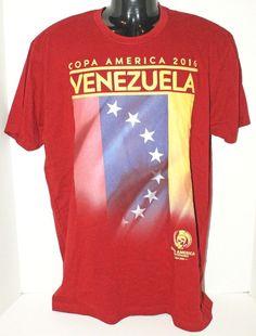 VENEZUELA - SOCCER COPA AMERICA CENTENARIO MEN LARGE MAROON SHIRT OR WOMEN 2016 #Unbranded #ShirtsTops