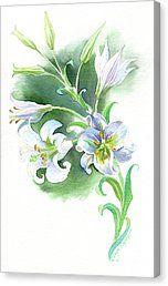Gabriel's Message Canvas Print by Darya Tsaptsyna