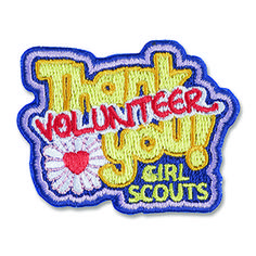 THANK YOU! VOLUNTEER IRON-ON PATCH $2.50 #58372