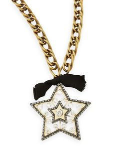 Star Brooch Pendant Necklace by Lanvin at Bergdorf Goodman.