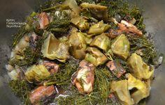 Χταπόδι με αγκινάρες και μάραθο (ή άνηθο) - cretangastronomy.gr Sprouts, Seafood, Chicken, Meat, Vegetables, Sea Food, Veggies, Vegetable Recipes, Brussels Sprouts