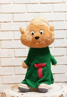 Vintage Talking Chipmunk Plush Stuffed Animal Doll by CabinOn6th