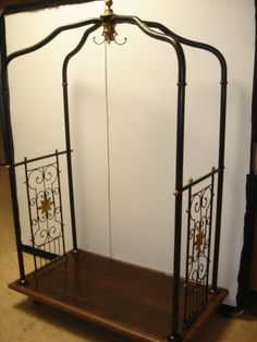 Vintage Hotel Brass Luggage Cart   Modern, Brass and Luggage rack