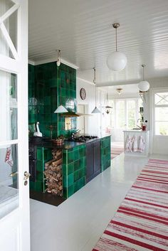 Interior design ideas, home decorating photos and pictures, home design, and contemporary world architecture new for your inspiration. Swedish Kitchen, Country Kitchen, Country Living, Interior Design Photography, Fireclay Tile, Vintage Tile, Scandinavian Interior Design, Kitchen Colors, Best Interior