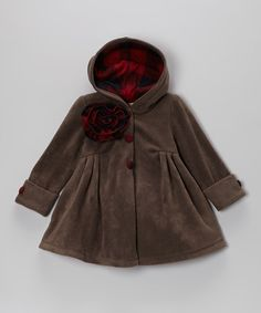 Brown Riding Hood Coat - Toddler & Girls by Maria Elena on #zulily