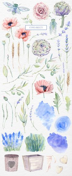 MY PROVENCE STORY watercolor set - Illustrations - 2