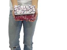 baseball clutch. fold over zipper pouch in baseball by SmiLeStyles #baseball #sports #fashion