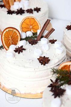 Bolos para Festa de Ano Novo Christmas Cake Decorations, New Year Cake Decoration, Christmas Cupcakes, Christmas Desserts, Cake Cookies, Cupcake Cakes, Cake Icing, Cake Story, New Year's Cake