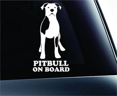 Pitbull on Board Dog Symbol Decal Paw Print Dog Puppy Pet Family Breed Love Car Truck Sticker Window (White) ExpressDecor http://www.amazon.com/dp/B00TSR6KOQ/ref=cm_sw_r_pi_dp_l7t6ub1YFEXAH