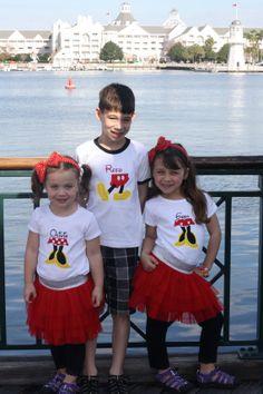 Mickey Legs Appliqued Shirt - a DISNEY must!!