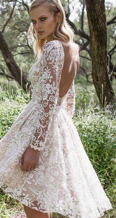 Korte Trouwjurk Met Mouwen.59 Beste Afbeeldingen Van Korte Trouwjurken Bridal Gowns Short