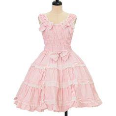 ♡ Angelic pretty ♡ Pink jumper skirt http://www.wunderwelt.jp/products/detail11012.html ☆ ·.. · ° ☆ How to order ☆ ·.. · ° ☆ http://www.wunderwelt.jp/user_data/shoppingguide-eng ☆ ·.. · ☆ Japanese Vintage Lolita clothing shop Wunderwelt ☆ ·.. · ☆