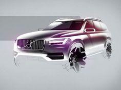 Volvo XC90: design sketches