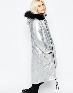 I think this metallic parka may have to make it's way to NYC with me when I head there in November.