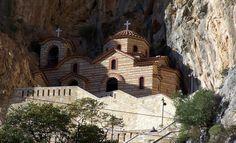 agia-eleousa (6) Greek Islands, Barcelona Cathedral, Notre Dame, House Styles, Building, Travel, Faith, Greek Isles, Viajes