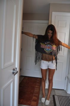 DIY shirt // So cute for over bathing suit