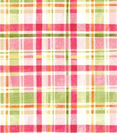 Keepsake Calico Fabric Pretty In Pink Plaid