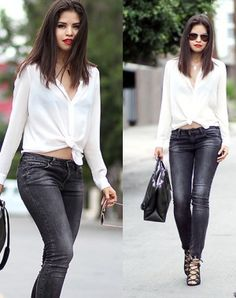 Shirt Jeans & Red Lips