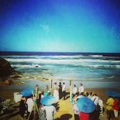 Surfing wedding
