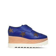 Cobalt Elyse Star Shoes - Stella Mccartney Official Online Store - SS 2016