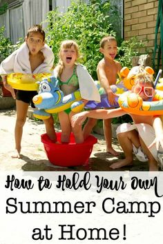 Running your own DIY Summer Camp is just an awesome way to spend the summer with your kids! Here's how to plan summer activities, summer crafts- and have time for summer fun together! - Education and lifestyle Summer Activities, Outdoor Activities, Family Activities, Preschool Activities, Summer Diy, Summer Crafts, Summer Ideas, Fun Ideas, Happy Summer