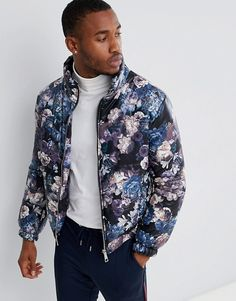 Find the best selection of boohooMAN puffer jacket in floral print. Shop today with free delivery and returns (Ts&Cs apply) with ASOS! Asos Online Shopping, Puffer Jackets, Latest Fashion Clothes, Designer Shoes, Floral Prints, Bomber Jacket, Asos Men, Mens Fashion, How To Wear