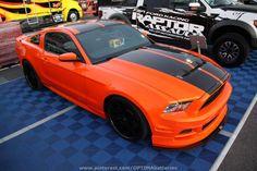 #orange Ford Mustang at #SEMA 2012