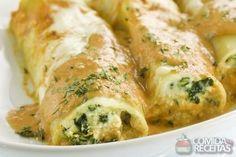 Receita de Panqueca de ricota com espinafre em receitas de massas, veja essa e outras receitas aqui!
