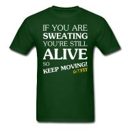 KEEP MOVING! · Starting at ONLY $17.99 · This is the men's style, women's is available also. And available with or without the whimsical design, as well as multiple shirt styles and colors to choose from. Grab yours today! :)