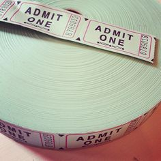 vintage style cinema tickets in mint green - for sale!