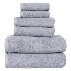Stack these cozy Egyptian cotton towels on the guest vanity to help out-of-towners feel at home, or roll them up and tuck them into a basket for a spa-wor...