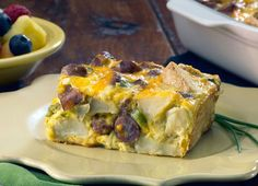 Johnsonville Cheesy Sausage & Potato Breakfast Casserole