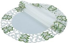 Tannenbaum Embroidered Cutwork Holiday Placemat