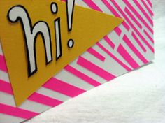 Neon Pendant 'Hi' Card by RepeteLove on Etsy, $4.00