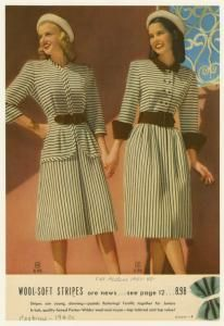 1947 Wool-soft stripes from Aldens Catalog 1947-48