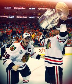 Jonathan Toews Marian Hossa 2010 Stanley Cup.....Repeat anyone?