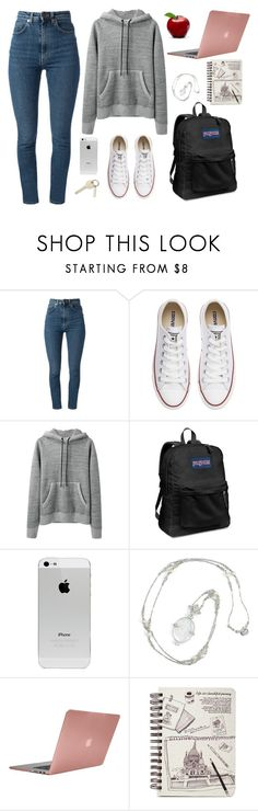 """""""Acacia running late to class"""" by marsophie ❤ liked on Polyvore featuring Yves Saint Laurent, Converse, rag & bone, JanSport and Incase"""