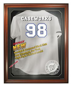 Washington Nationals Removable Face Jersey Display, Brown from ManCaveGiant.com