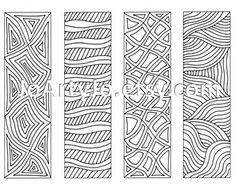 Couleur de vos propres signets Zentangle inspiré par JoArtyJo