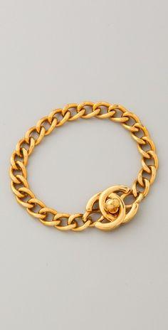 WGACA Vintage Vintage Chanel CC Chain Bracelet