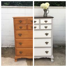 The vintagemaple dresser you see in the before photo (above left) is a Kling, made duringthe 1940s-1960s. It was given to us by a friend several years ago. I always loved the dresser just as it w…