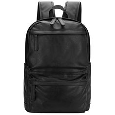 Bagerly Fashion Unisex PU Leather Backpack Casual Dayback Travel Bag ** Find out more details @